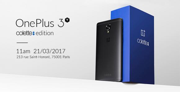 Представлен юбилейный OnePlus 3T colette edition