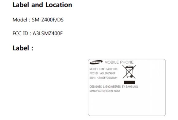 Samsung Z4 на базе Tizen сертифицирован FCC