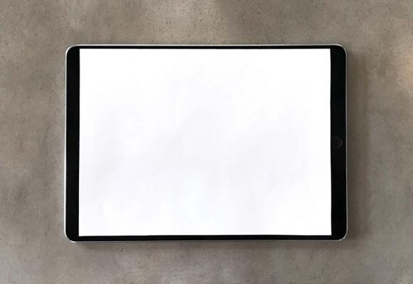 9,7-дюймовый iPad Pro с 10,5-дюймовым листом бумаги