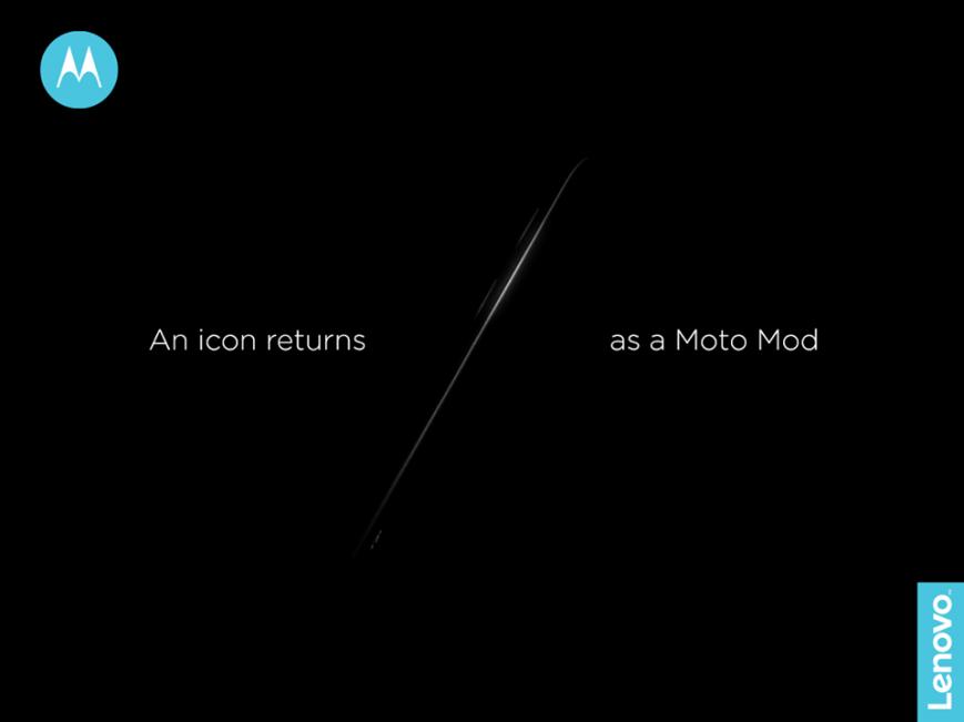 Motorola вернет легендарный RAZR в виде Moto Mod
