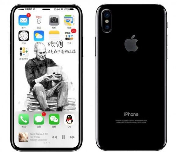 Схема и рендер iPhone 8