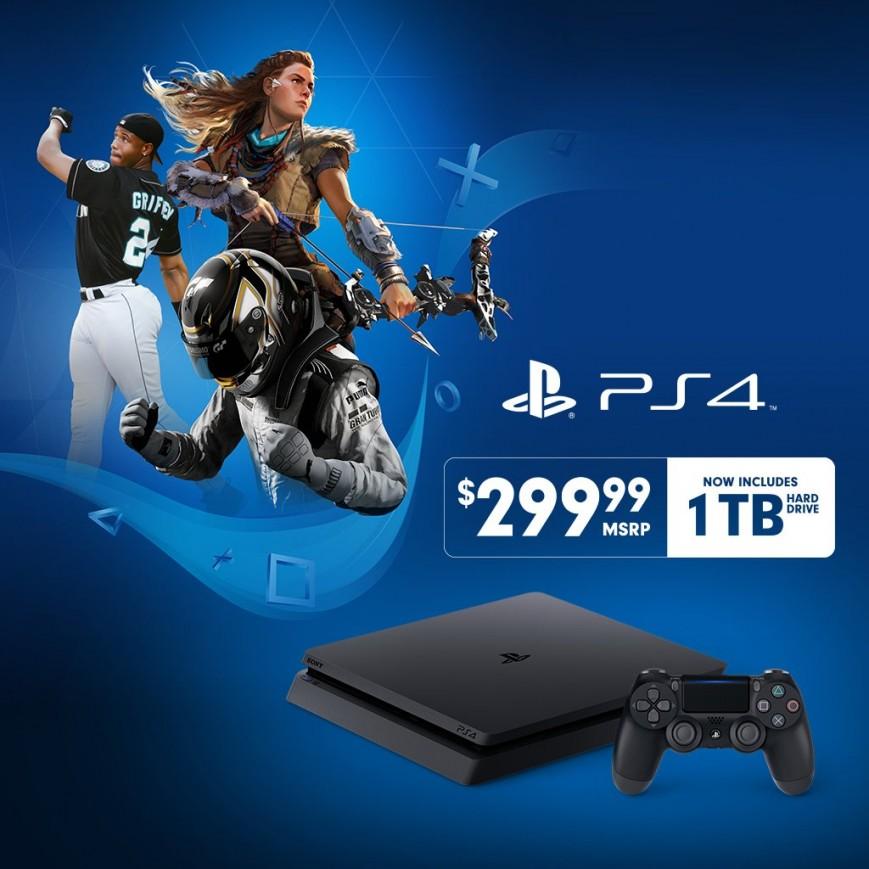 Sony выпускает PlayStation 4 Slim с удвоенным винчестером по прежней цене