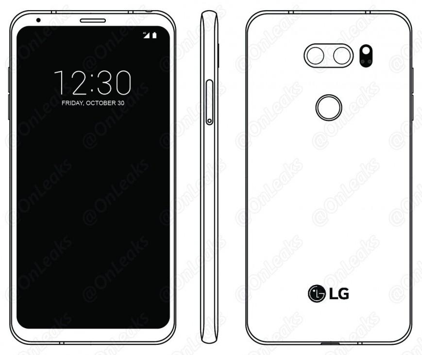 LG V30 показался на рисунке