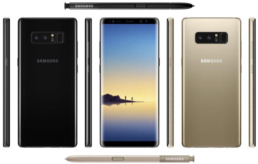 Samsung Galaxy Note 8 показался на пресс-рендерах со всех сторон