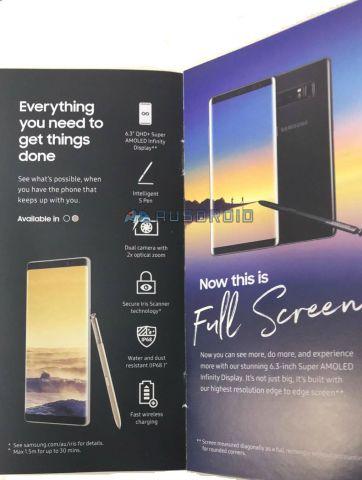 Рекламный буклет подтвердил параметры Samsung Galaxy Note 8