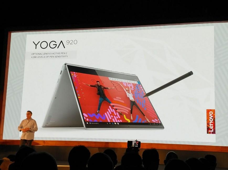 Lenovo представила продвинутый перевертыш Yoga 920