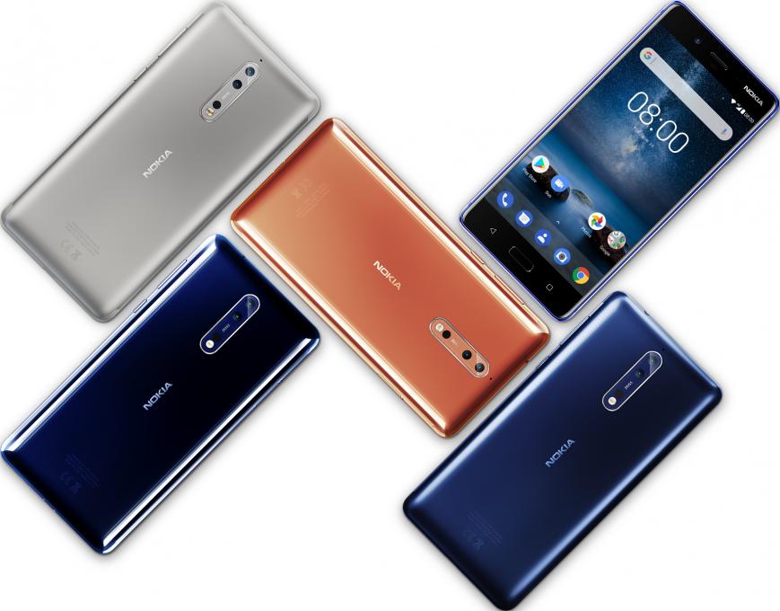 Смартфон Nokia 8 стал доступен в России