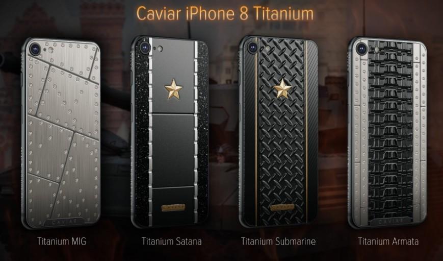 Caviar запускает титановые iPhone 8 и X во имя Сатаны