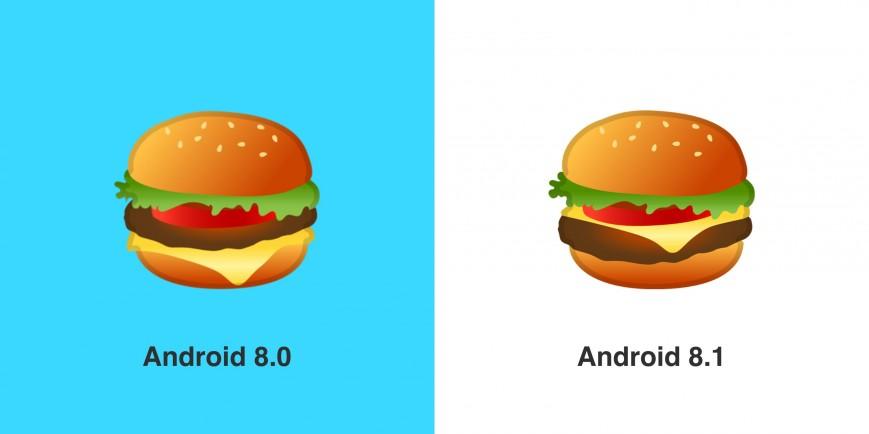 Google исправила бургер и пиво в Android