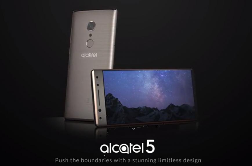 Безрамочный смартфон Alcatel 5 показался на пресс-рендерах и видео