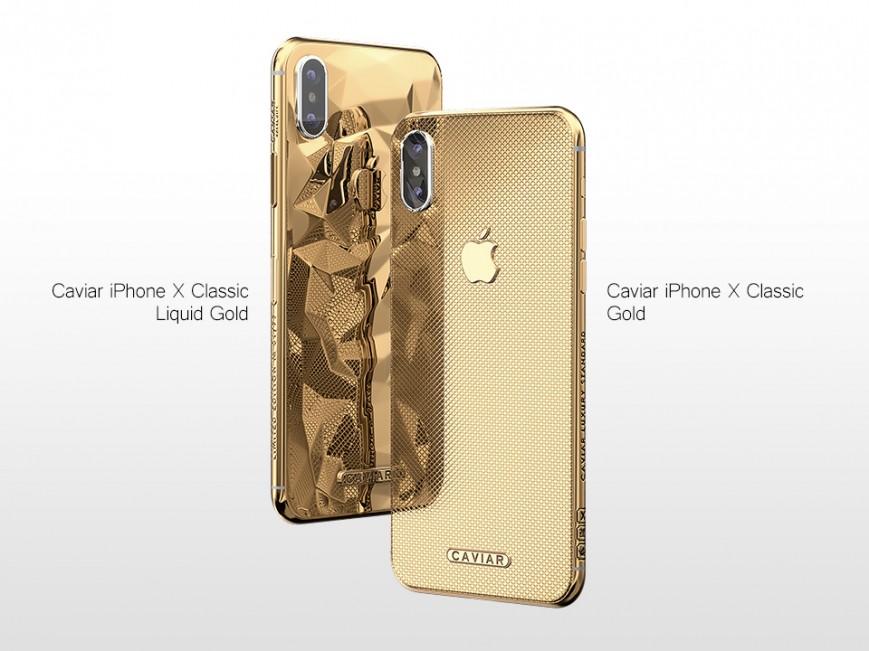 Caviar запускает iPhone X из «жидкого золота»