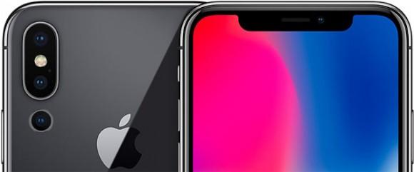Макет iPhone X с тройной камерой
