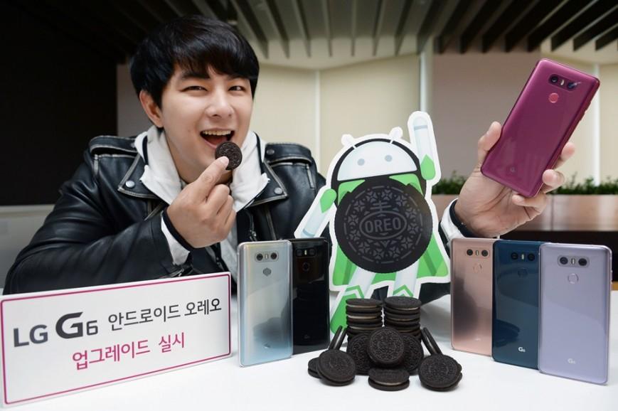 LG объявила дату выхода апдейта Android 8.0 Oreo для LG G6
