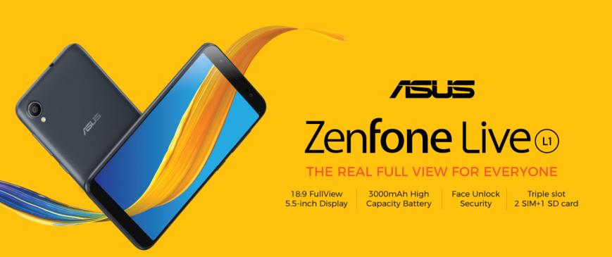 ASUS выпускает стодолларовый безрамочный смартфон Zenfone Live L1