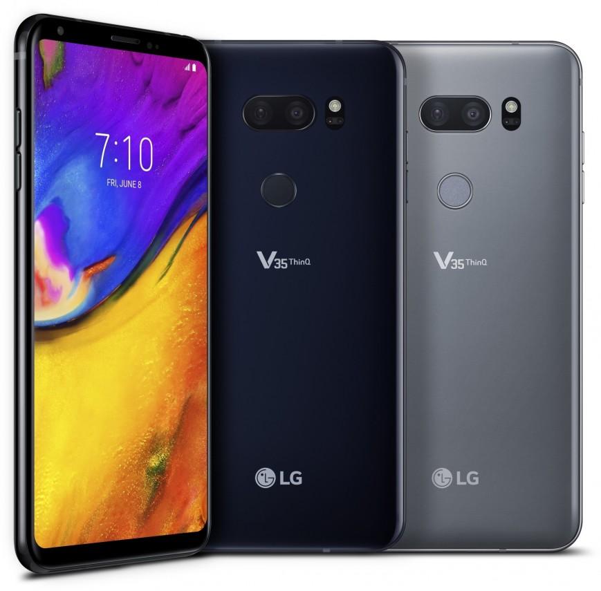 Безрамочный смартфон LG V35 ThinQ представлен официально