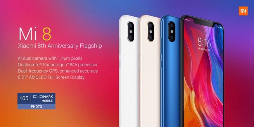 Юбилейный флагманский Xiaomi Mi 8 представлен официально
