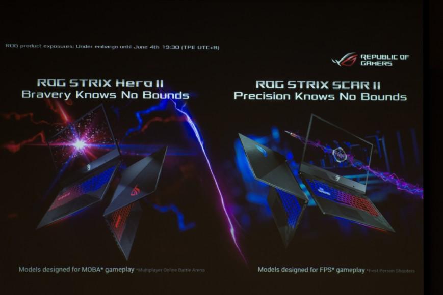 ASUS представила игровые ноутбуки ROG Strix Hero II и Scar II