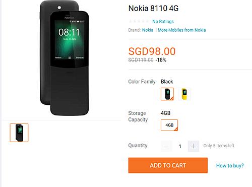 Возрождённый телефон-банан Nokia 8110 из «Матрицы» выходит в продажу