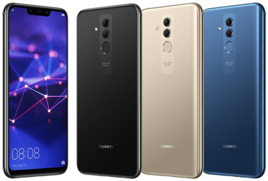 Смартфон Huawei Mate 20 Lite показался во всех цветах