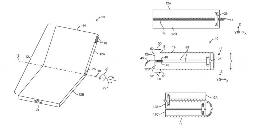 Apple запатентовала складывающийся втрое iPhone