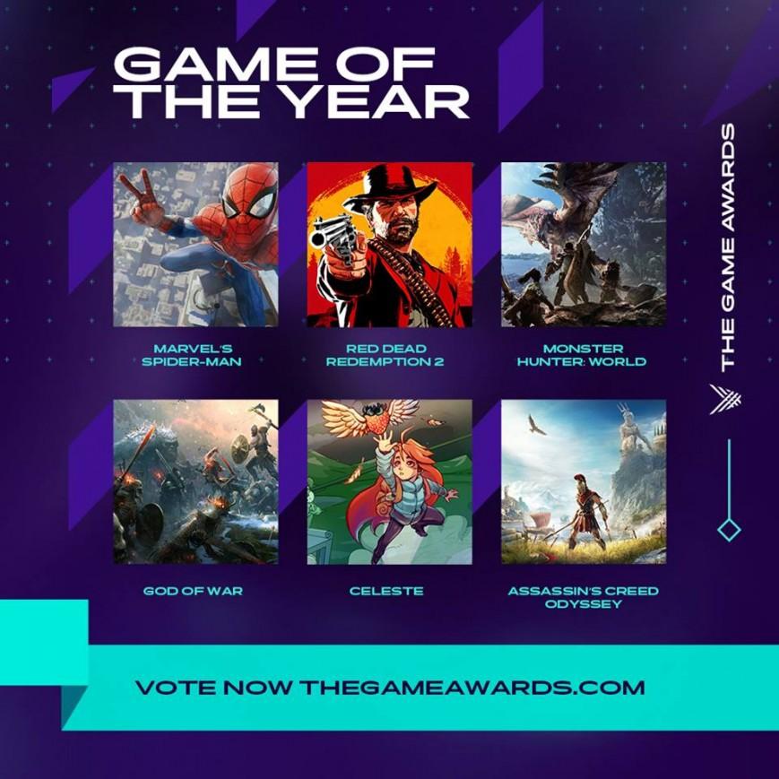 Стали известны номинанты «игрового Оскара» The Game Awards 2018