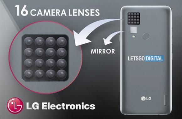 LG готовит смартфон с 16 тыльными камерами