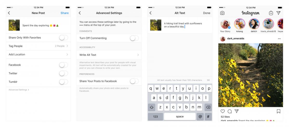 Instagram научился описывать картинки для слепых