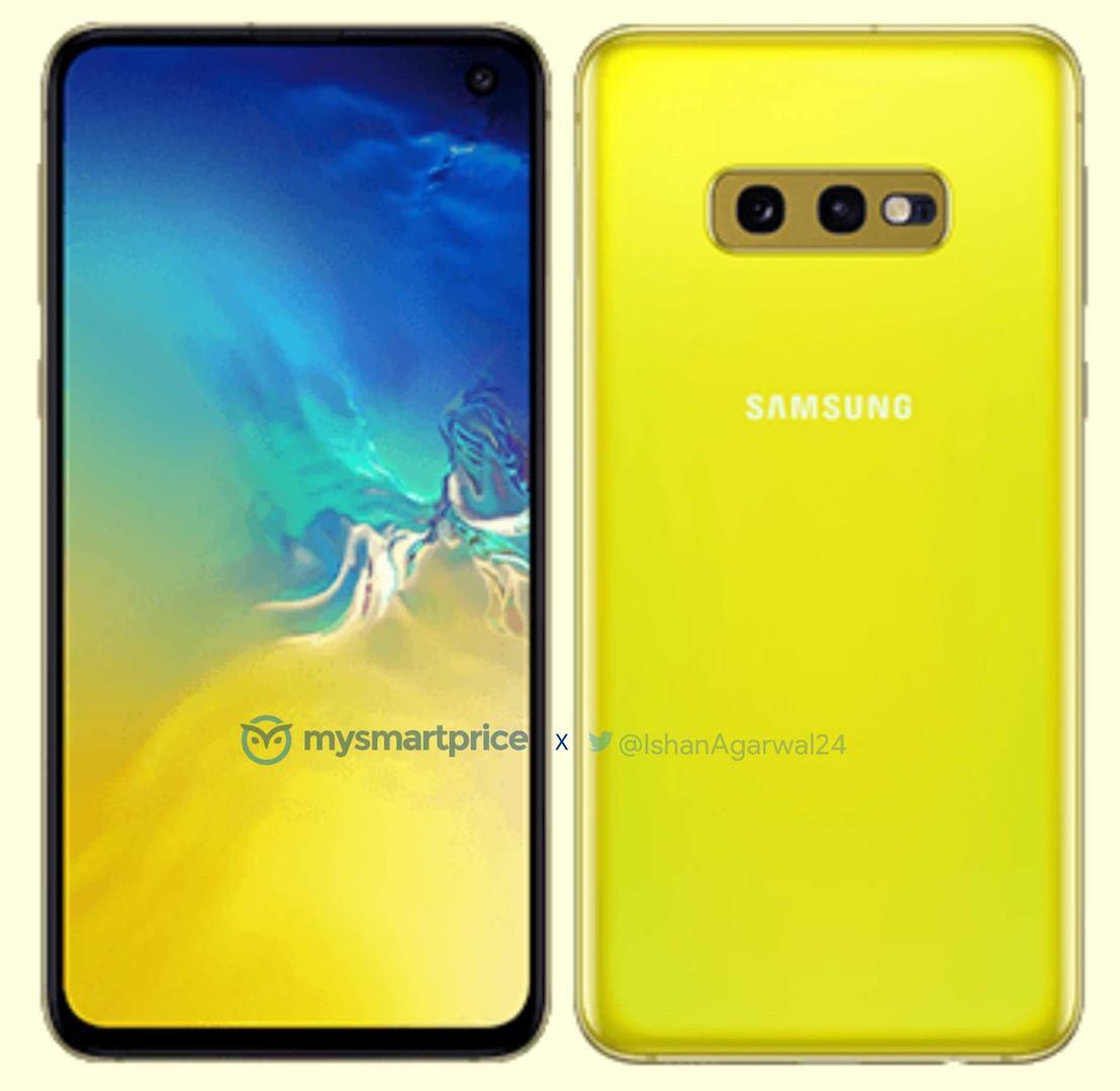 Первый рендер ярко-жёлтого Samsung Galaxy S10e