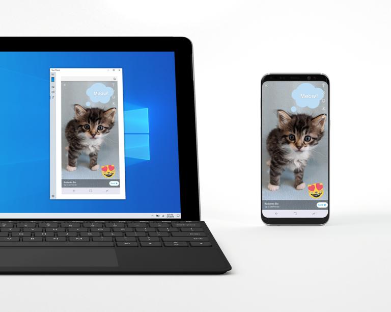 Последнее обновление Windows 10 позволяет зеркально отражать смартфон на компьютере