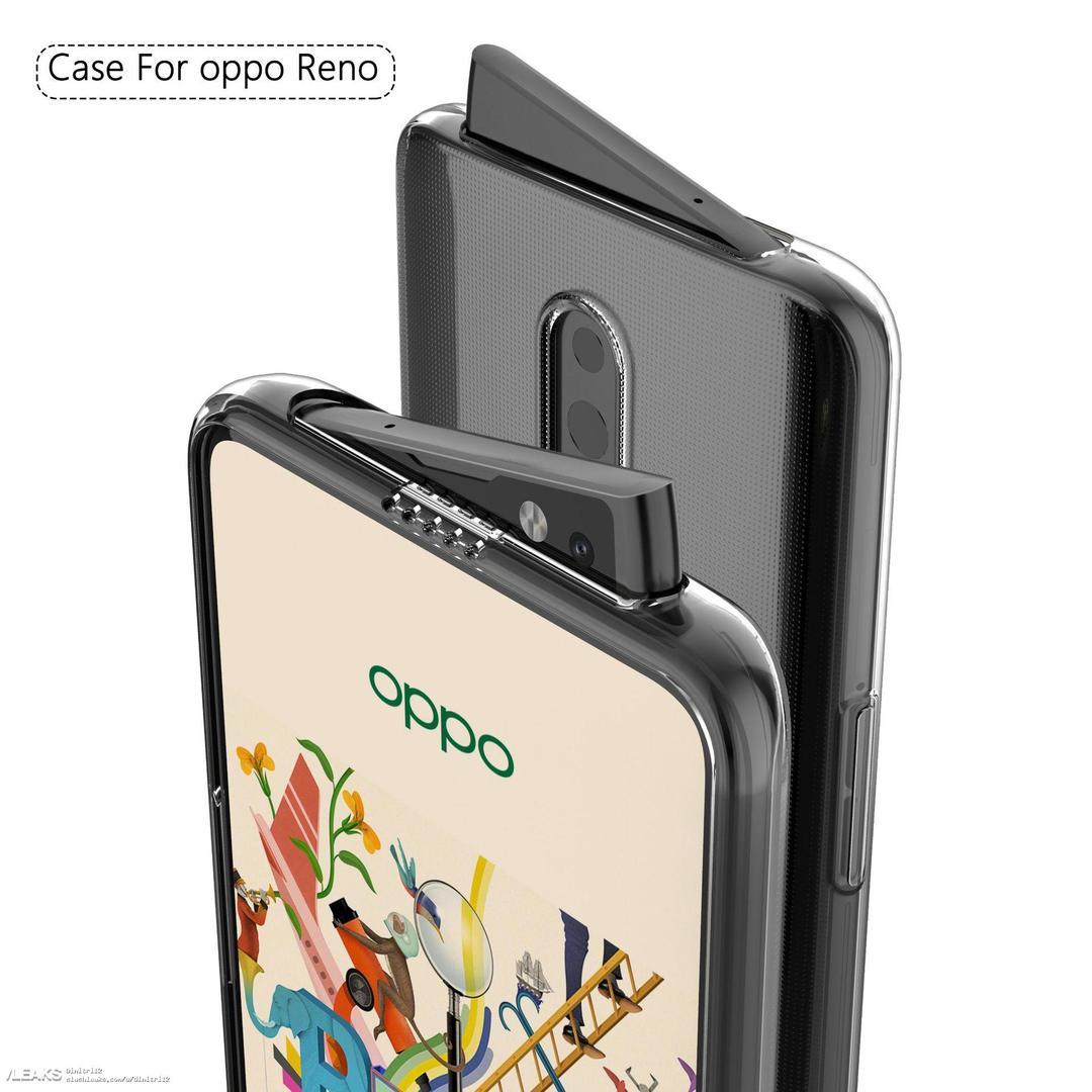 Селфи-камера смартфона Oppo Reno выезжает набекрень