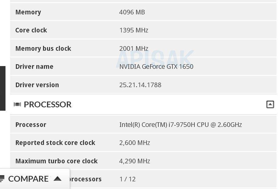 NVIDIA готовит видеокарту GeForce GTX 1650 для игровых ноутбуков среднего класса