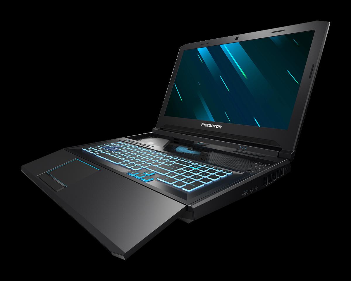 Мощнейший ноутбук Acer Predator Helios 700 получил клавиатуру-слайдер, улучшающую охлаждение