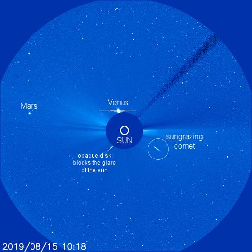 Столкновение кометы с Солнцем продемонстрировали на видео