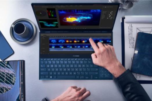 ASUS представила в России ноутбук для профессионалов с двумя экранами