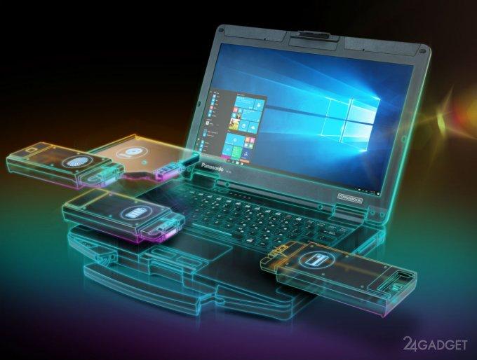 Защищенный, ударопрочный модульный ноутбук от Panasonic (4 фото)