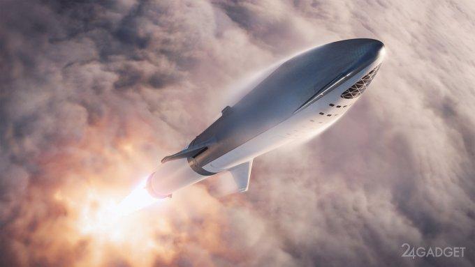 Последние приготовления к тестовому полету марсианского корабля Starship Илона Маска