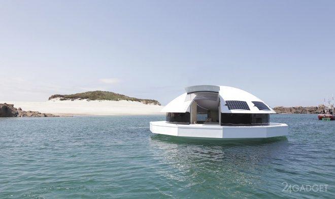 Умный плавучий дом, вдохновленный идеями Джеймса Бонда (4 фото)