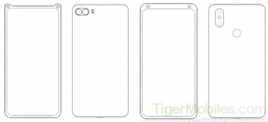 Xiaomi придумала новые варианты размещения селфи-камеры
