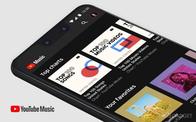 YouTube Music будет предустанавливаться на всех смартфонах под Android 10