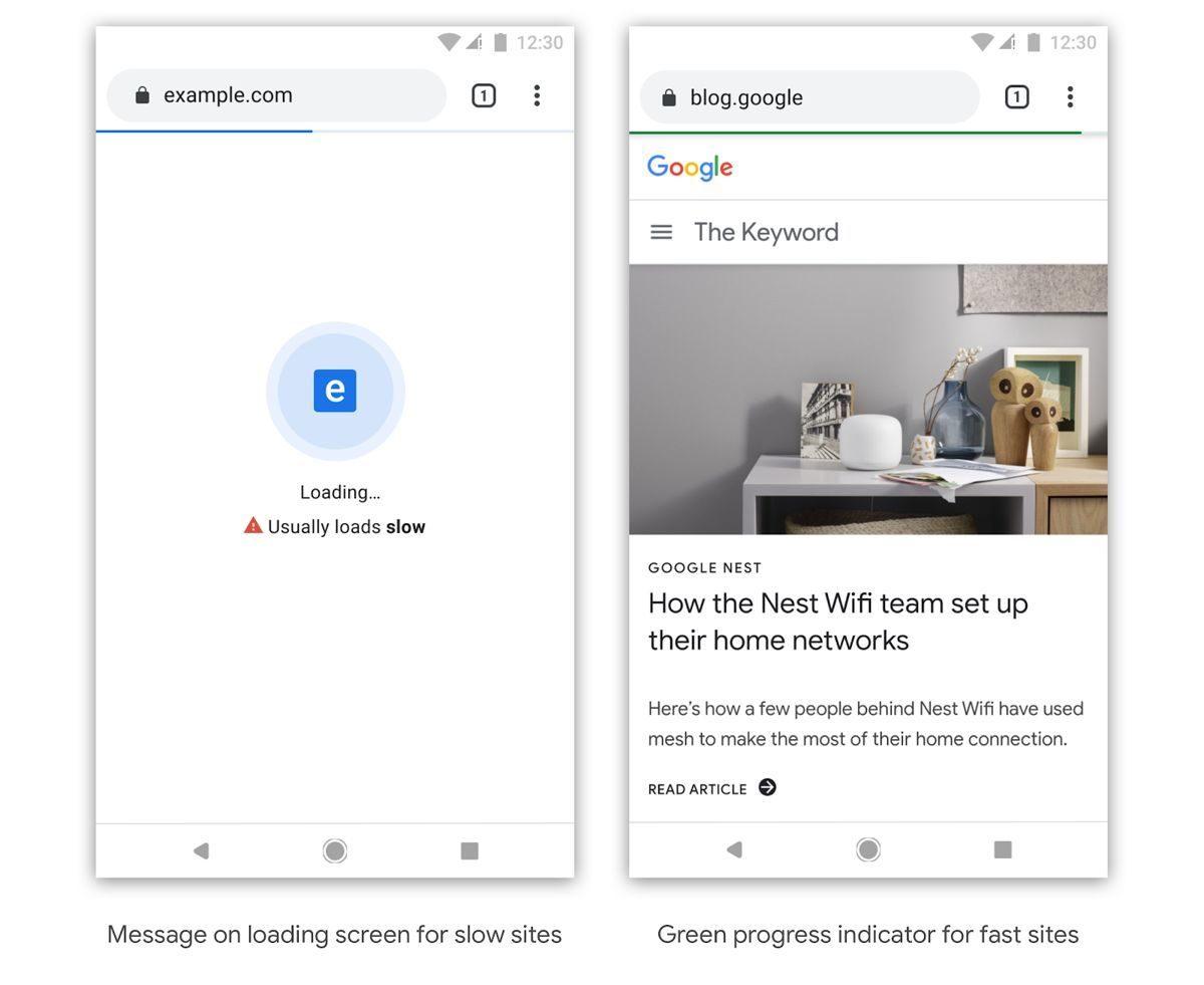 Chrome начнёт отмечать медленно работающие сайты