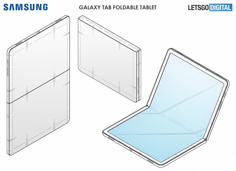 В сети появилось изображение первого гибкого планшета Samsung