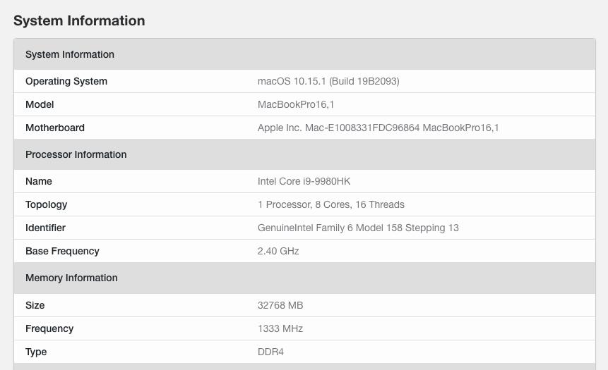 Раскрыт процессор нового 16-дюймового MacBook Pro