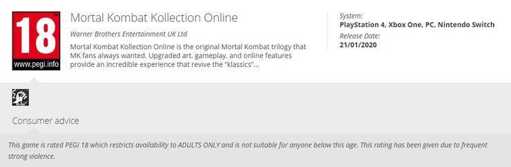 В сети появилась информация о первых трех частях Mortal Kombat с обновленной графикой