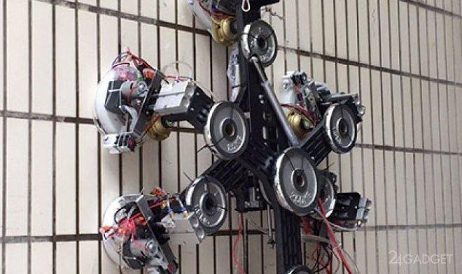 Вакуумный робот может передвигаться по любым вертикальным поверхностям (2 фото)