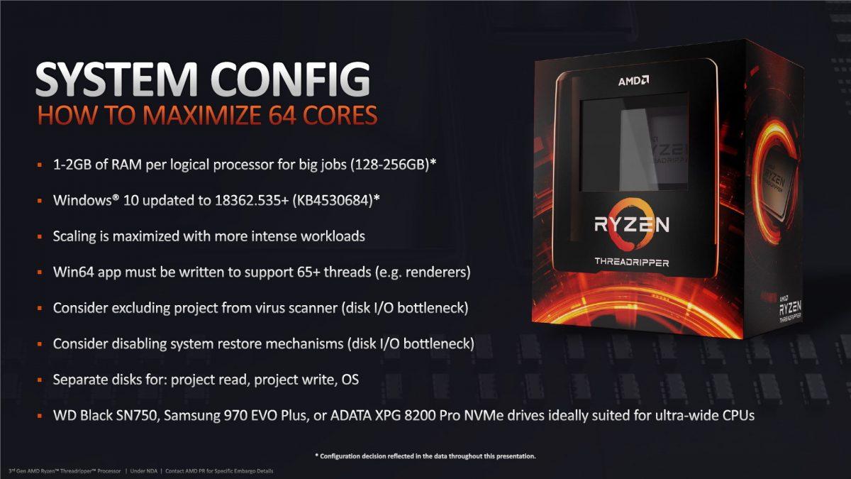AMD объяснила, как добиться максимальной производительности от нового 64-ядерного процессора