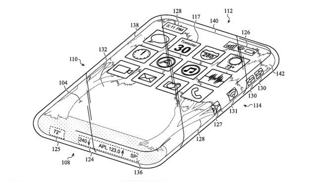 Apple изобрела iPhone с покрывающим все стороны экраном