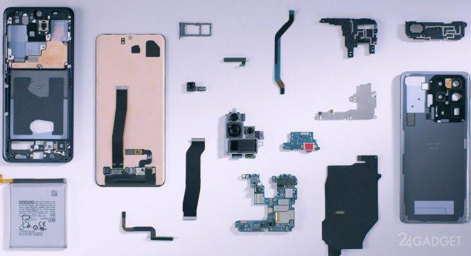 Опередив энтузиастов, Samsung продемонстрировала «внутренности» Galaxy S20 Ultra (видео)