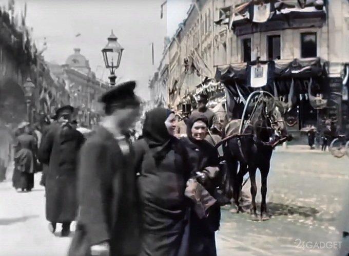 Российская империя 1896 года представлена в 4К и в цвете (видео)