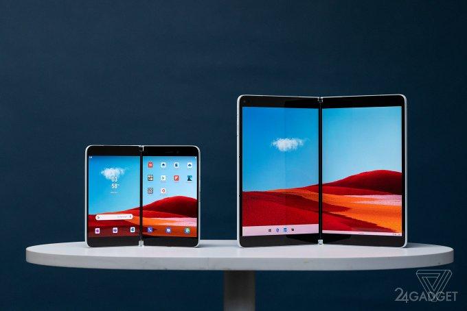 Устройство Microsoft Surface Duo работает при частичном раскрытии (видео)