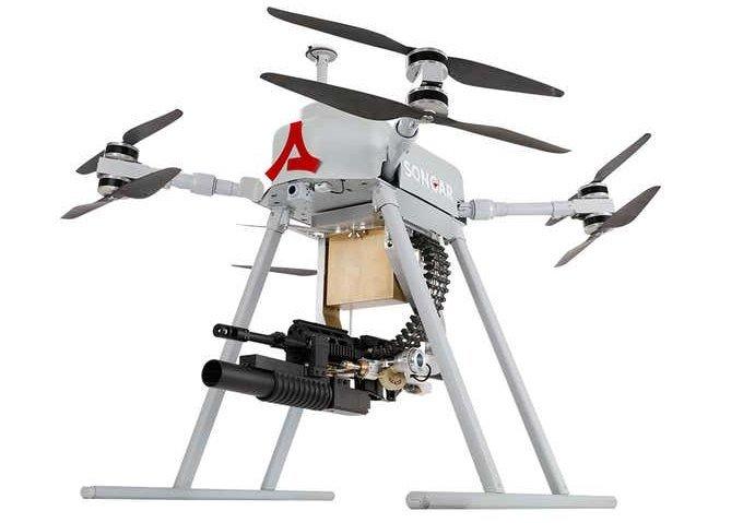 Songar – первый боевой дрон с пулемётом (3 фото + видео)